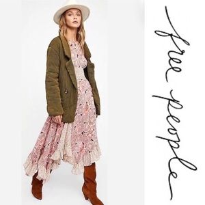 Free People Oversized Tawny Pillow Jacket, M